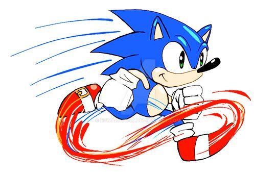 Sonic Running by EdwardTCat
