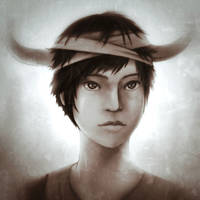 ICO - The horned boy by FixelCat