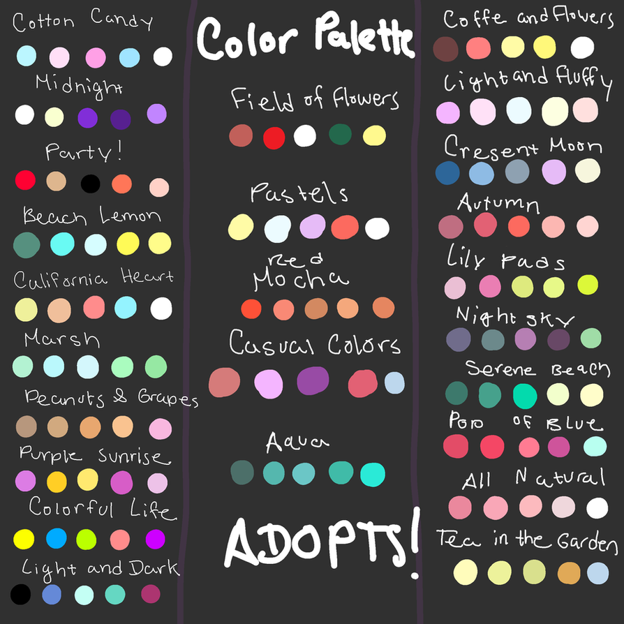 GIANT Color Palette Adopt Dump READ DESC. CLOSED by ...