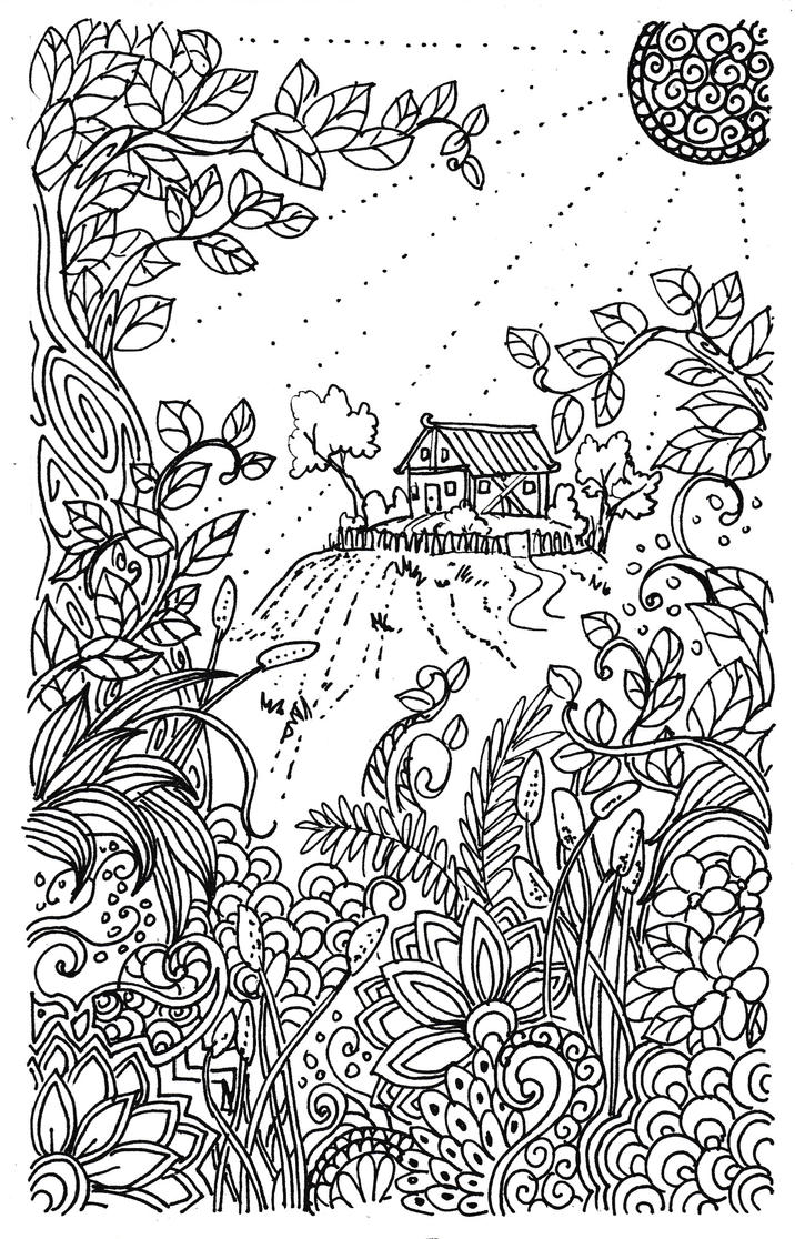 Doodles : The Little Cottage Up The Hill by CeciliaSal