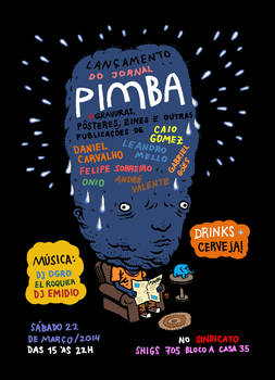 Jornal Pimba Launch Party Poster