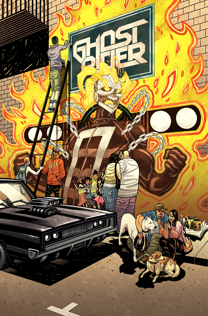 ALL-NEW GHOST RIDER #6 - Cover colors by sobreiro