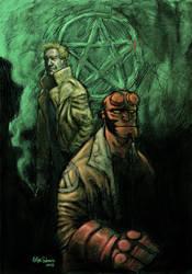 Hellboy, Hellblazer by sobreiro