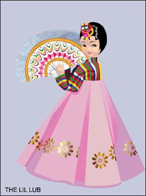 Korea hanbok Stock Vectors, Royalty Free Korea hanbok ...