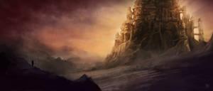 Dragonborn castle by RadoArts