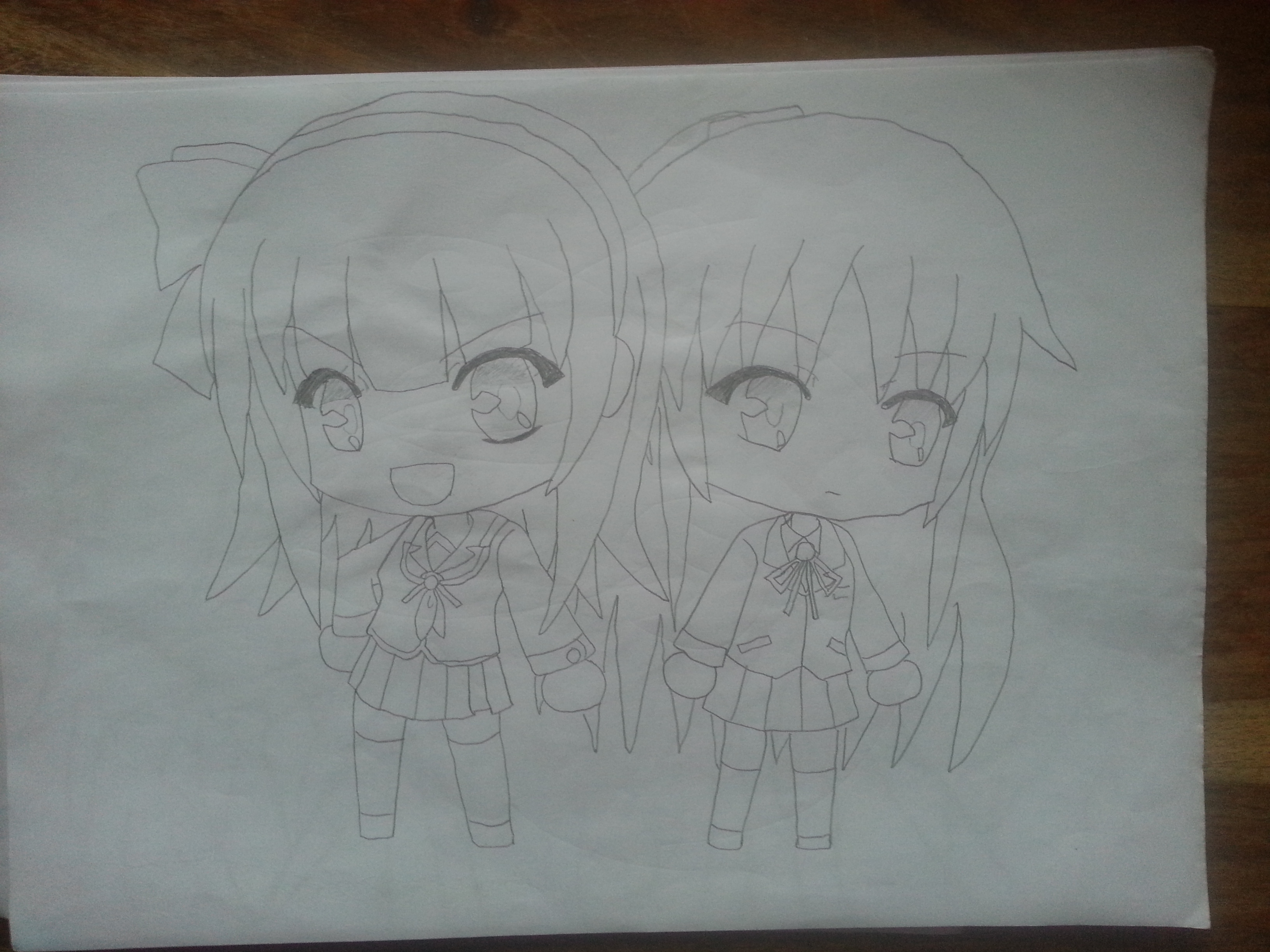 Yurippe and Kanade ~Chibi~ by Kukukuh