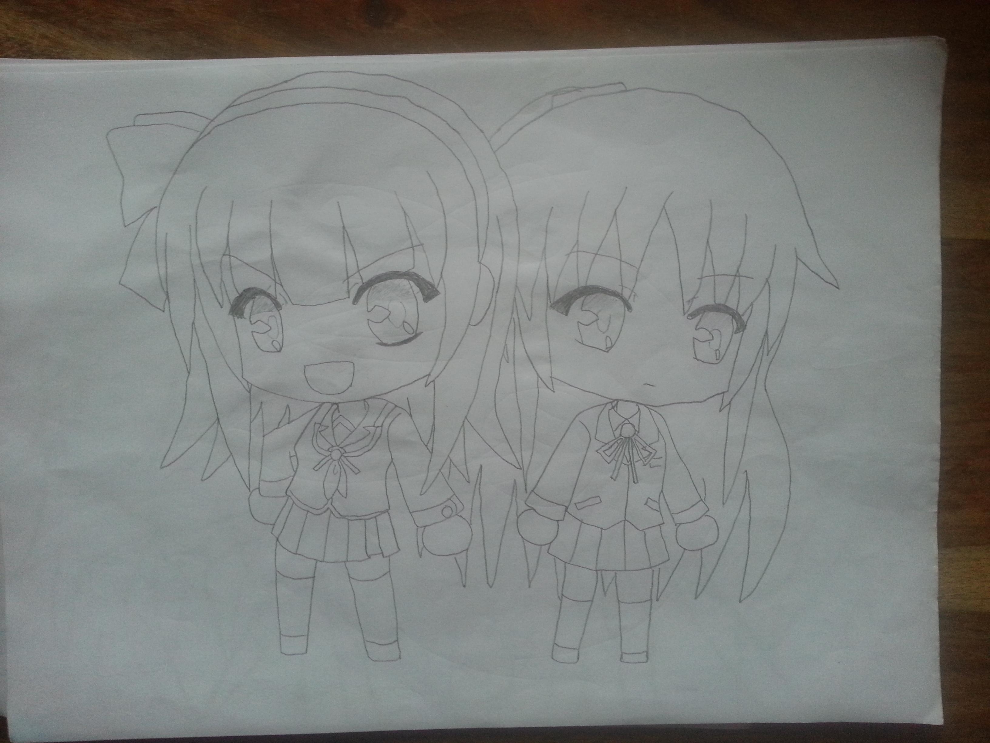 Yurippe and Kanade ~Chibi~ by Kukukuh