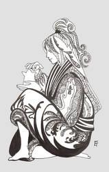 Deidara lineart by Tachi-Uchixa