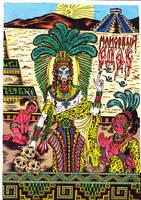 Huitzilopochtli in color by talfar