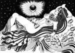Goddess Hathor is sleeping by talfar
