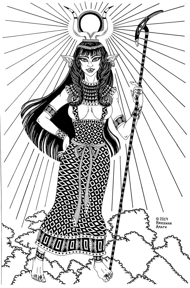 Hathor, Egypt Goddess of beauty and love by talfar
