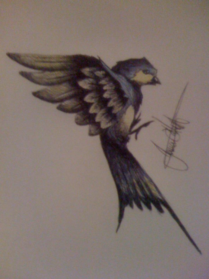 Swallow tattoo by mr evilution on deviantart for Swallow art tattoo
