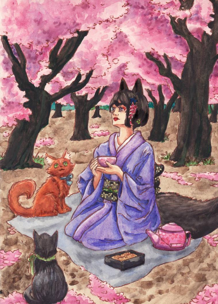 [Kimono-mimi] Flower Viewing