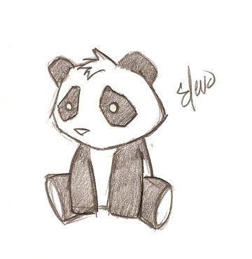 скачать векторный оригинал рисунка Панда.  Тотем.