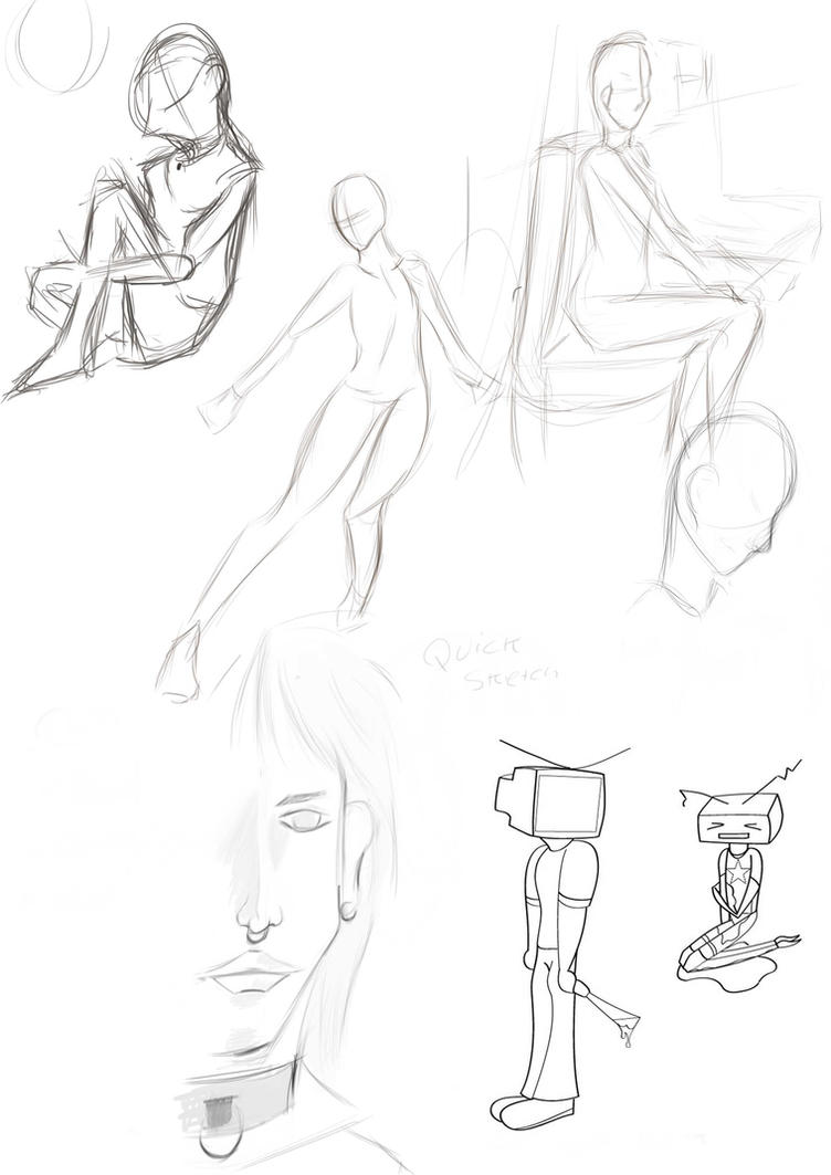 Random Sketches by FireBrandWolf777