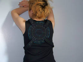 upcycle cyber goth shirt (back)