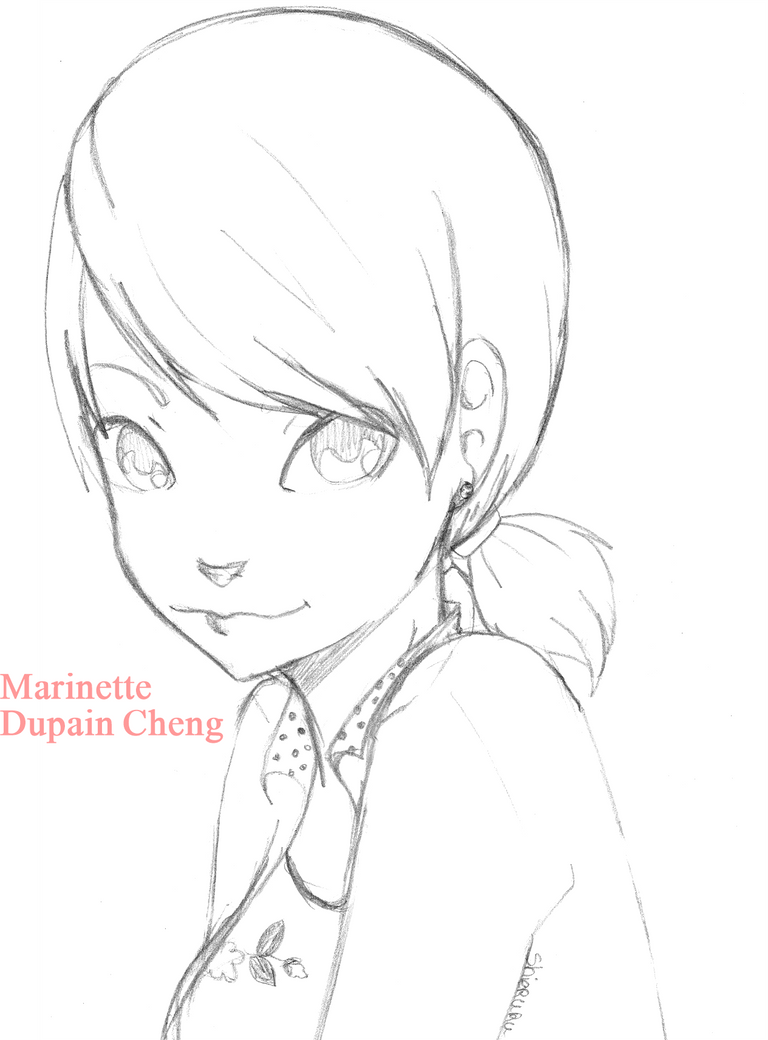 miraculous coloring pages - miraculous marinette by kairi tenchii on deviantart