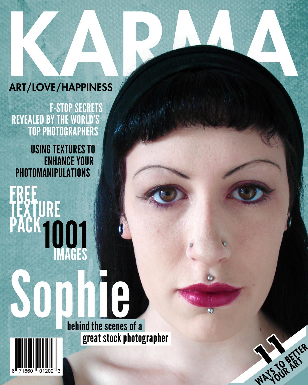 Karma Magazine Cover by jonniedee