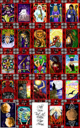 Celtic Roses Tarot 1st ed.MA's by sphinxfalcon