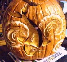 koi pumpkin by lady-dark-art