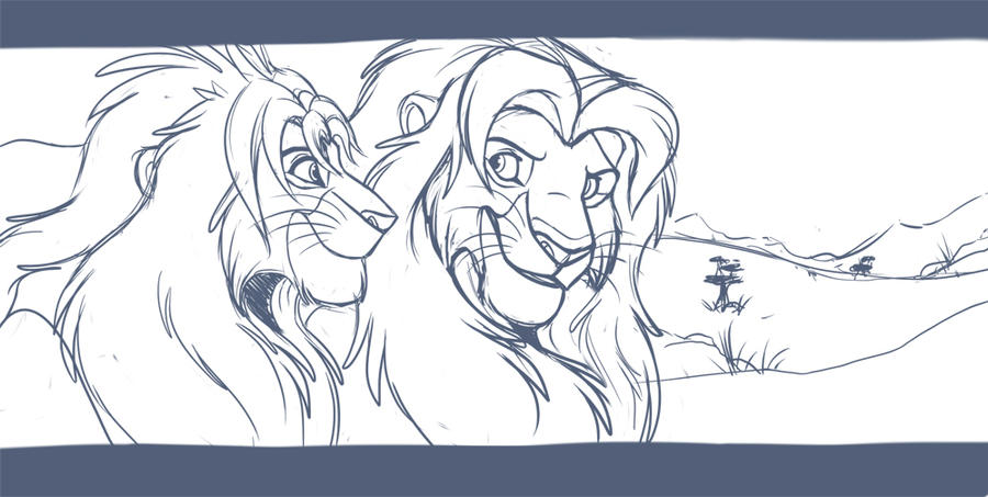 King Simba WIP by kohu-scribbles