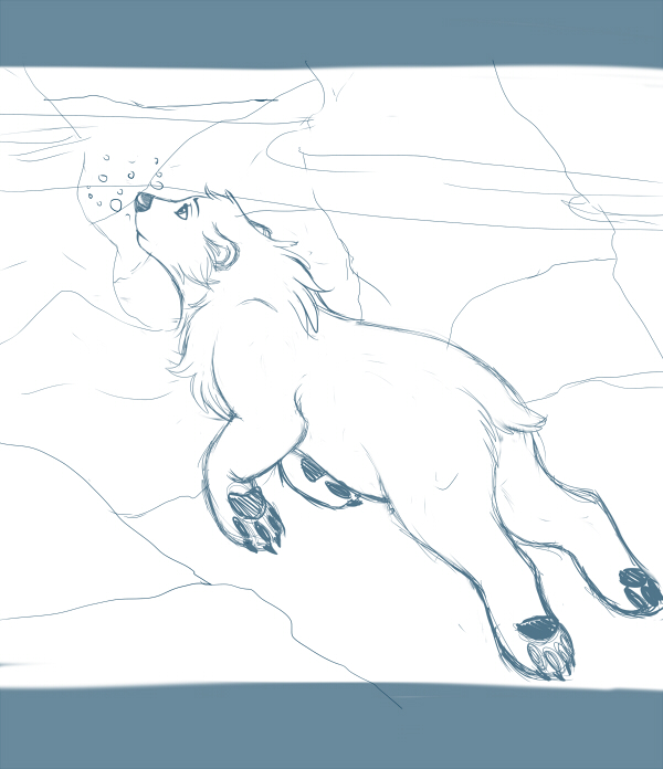 Swimming WIP by kohu-scribbles