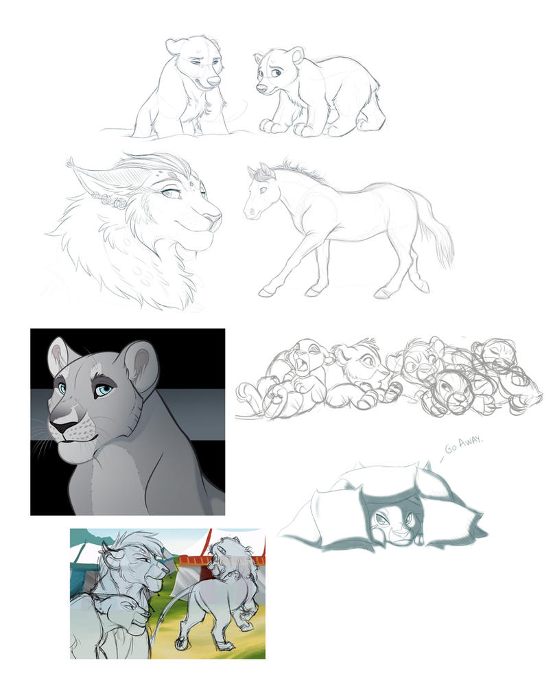 Sketch Dump #1 (2015) by kohu-scribbles