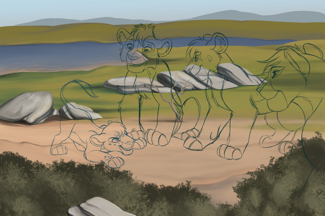 Greetings - WIP by kohu-scribbles