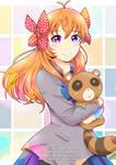 Sakura and Tanuki