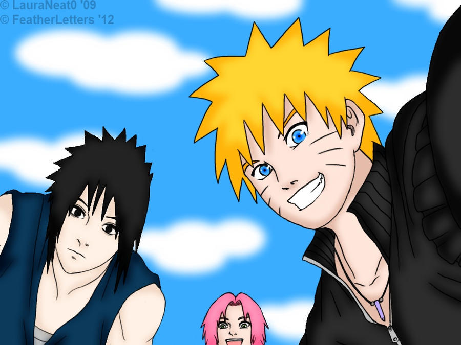 Naruto, Sasuke, Sakura~ Naruto Shippuden by FeatherLetters on