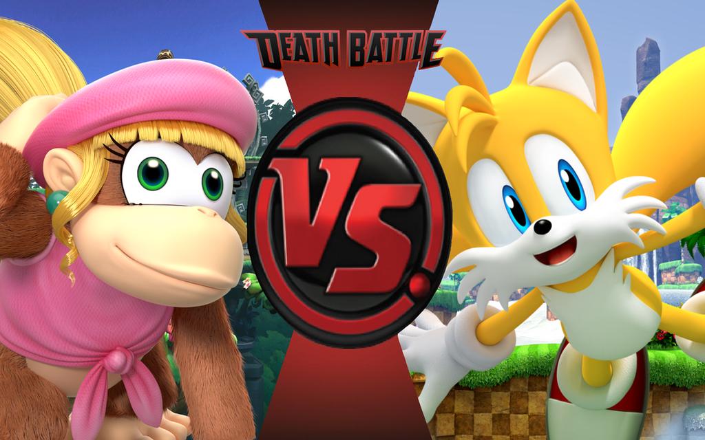 death battle dixie kong vs tails battle by cobaltglacier