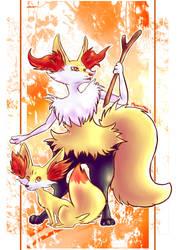 Fox pokemon by Neoro-Chan