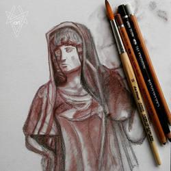 Hestia classic study Copr. NVNart by androdameia