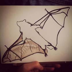 Spirit guide. Bat. by androdameia