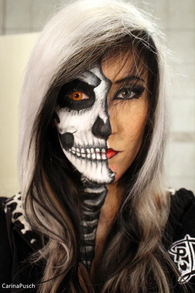 Half Skull Girl By CarinaPusch On DeviantArt