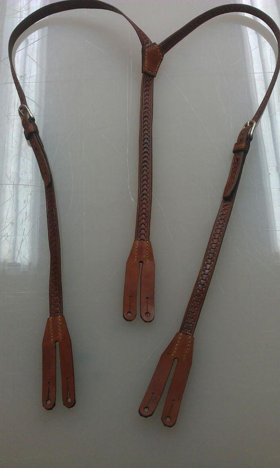 Leather suspenders by Kristiantyrann