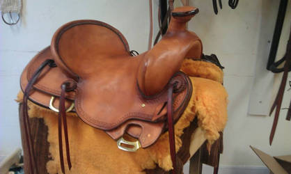 Ranch-saddle in the making