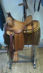 Ranch-saddle finished