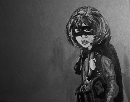 Grayscale Hit Girl