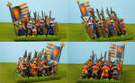 Bretonnian Men At Arms (Final) Square Formation by Texmar21