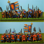 Bretonnian Men At Arms (Final) Line Formation by Texmar21