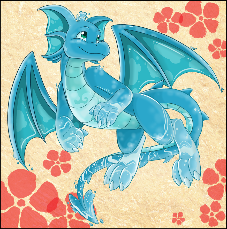Year of the Water Draik by Akane-The-Fox