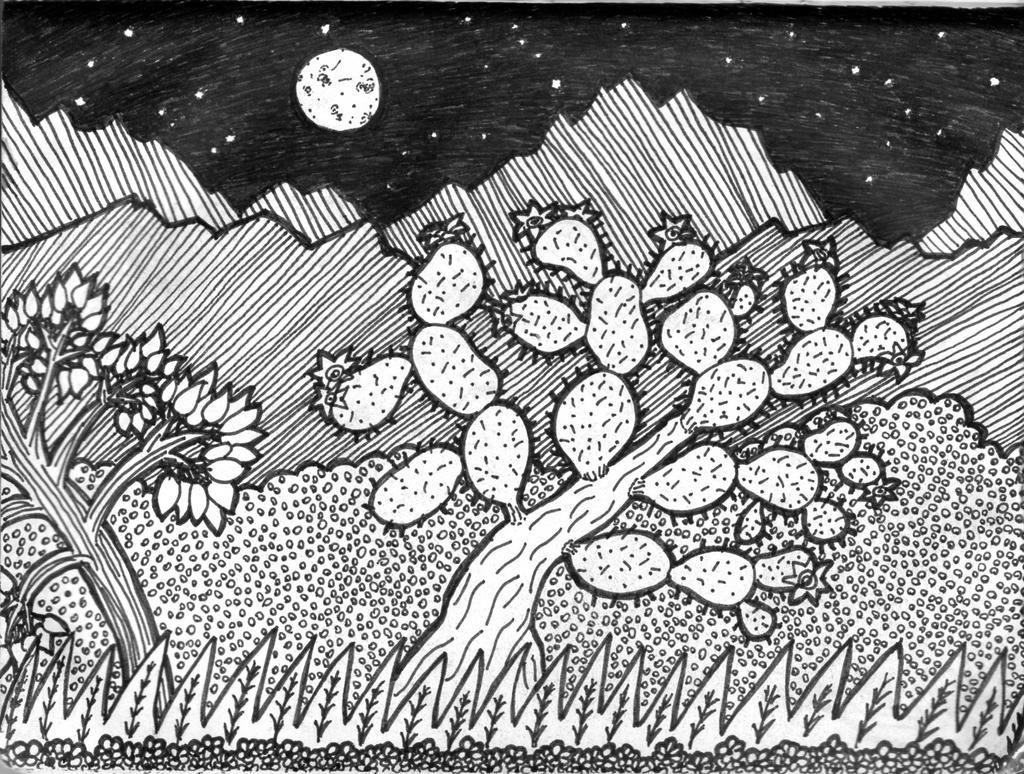 Luna llena en el monte by Gonarsan