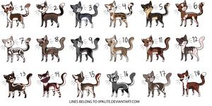 Cat Adoptables! (30 Points each) CLOSED by 0palite