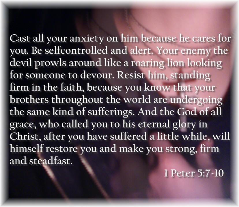 1 Peter 5:7-10 by latifolia1331 on DeviantArt