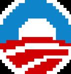 8-Bit Obama Logo