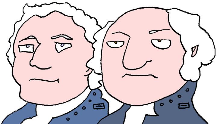 Robot Hamilton and Adams by dhorlick