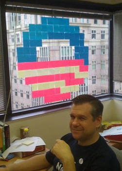 8-bit Obama Logo, Post-it Edition