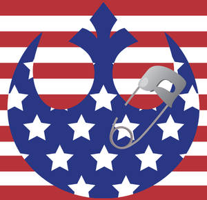 USA-style Safety-Pinned Rebel Alliance logo