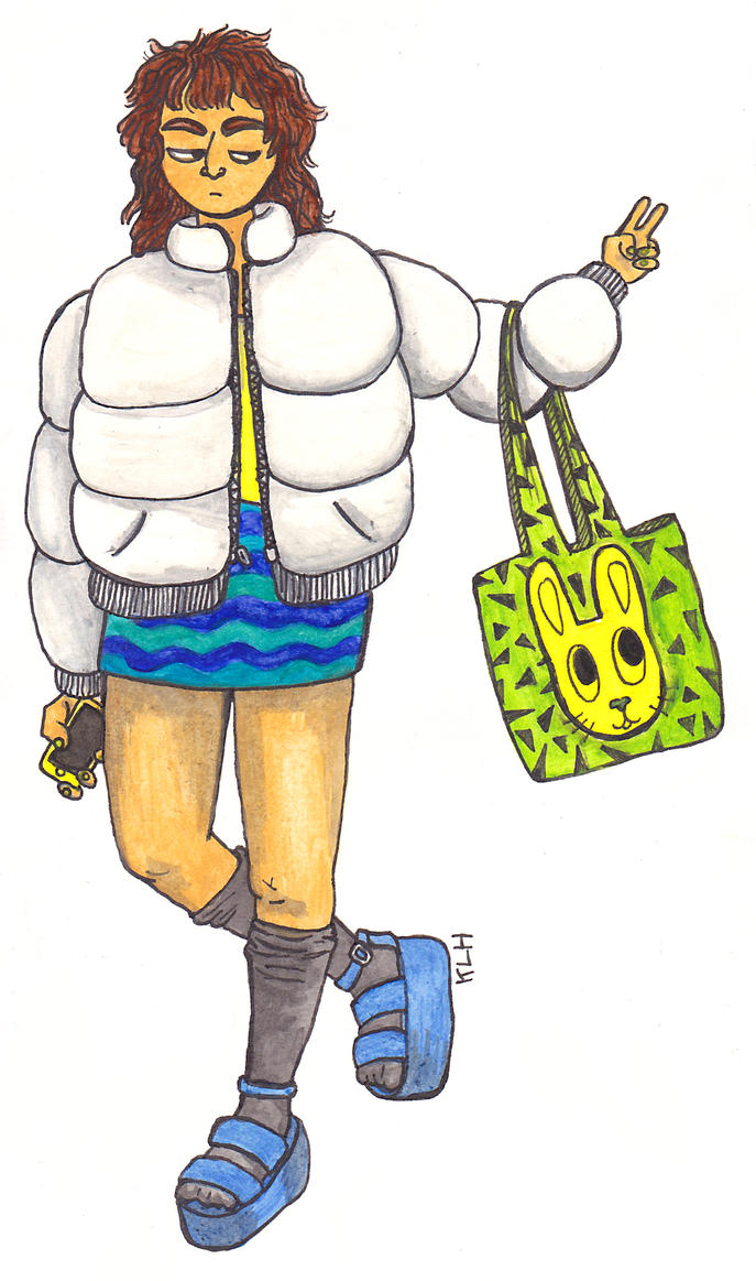 puffa coat girl by ilikepie94